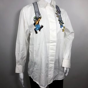 VINTAGE Disney Embroidered Top Button Down Shirt